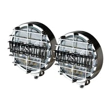 WESTiN Automotive 09-0500 6 in Quartz-Halogen Off-Road Lights with Grid Chrome (Set of Two)