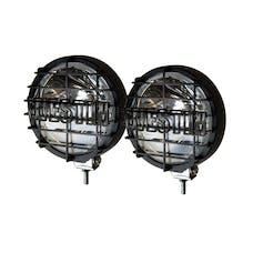 WESTiN Automotive 09-0505 6 in Quartz-Halogen Off-Road Lights w/Grid Black (Set of Two)