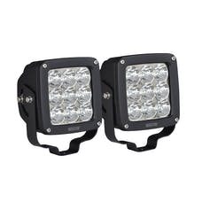 WESTiN Automotive 09-12219A-PR LED Auxiliary Light 4.5 inch x 4.5 inch Square Spot with 3W Osram (Set of 2)