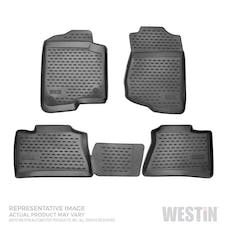 WESTiN Automotive 74-44-51001 Profile Floor Liners Front & 2nd Row Black