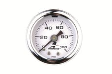 Aeromotive Fuel System 15633 Pressure Gauge, Fuel, 0 to 100 psi, Liquid Filled
