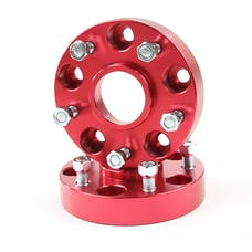 Alloy USA 11303 Wheel Spacers, 1.25 Inch, Red, 5x5; 99-04 Jeep Grand Cherokee