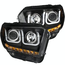 AnzoUSA 111326 Projector Headlights with U-Bar Black with DRL