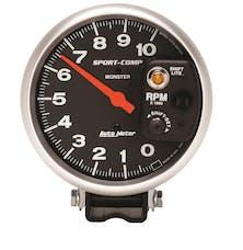 AutoMeter Products 3903 Gauge; Tachometer; 5in.; 10k RPM; Pedestal w/int. Shift-Lite; Sport-Comp