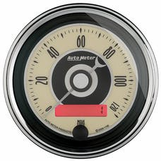 """AutoMeter Products 1187 3-3/8"""" Speedo, 120 MPH, Programmable, Cruiser AD"""