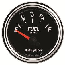AutoMeter Products 1206 Designer Black II 2-1/16in Fuel Level 240-33 ohms