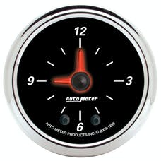 AutoMeter Products 1285 Designer Black II Clock 2 1/16in. Quartz Movement w/Second Hand