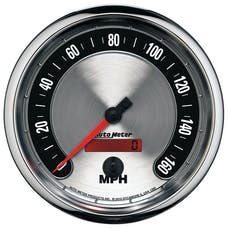 AutoMeter Products 1289 GAUGE; SPEEDOMETER; 5in.; 160MPH; ELEC. PROGRAMMABLE; AMERICAN MUSCLE