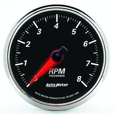 AutoMeter Products 1296 Designer Black II 3-3/8in Tachometer 0-8 000 RPM