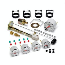 AutoMeter Products 1300-00408 Arctic White 5 Pc Kit Box W/Mech Speedo, GM
