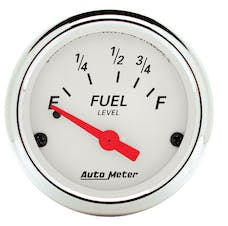 AutoMeter Products 1316 Arctic White Series Fuel Level Gauge (73 Ω Empty, 10 Ω Full, 2-1/16 in.)