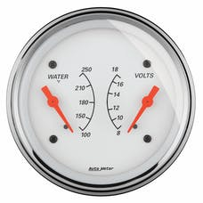 """AutoMeter Products 1330 3-3/8"""" Dual, Water Temperature Guage, 100-250, VOLT, 8-18"""