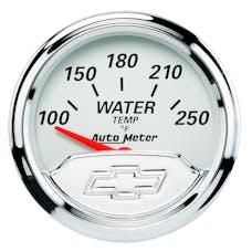 AutoMeter Products 1337-00408 GAUGE; WATER TEMP; 2 1/16in.; 250deg.F; ELEC; CHEVROLET HERITAGE BOWTIE
