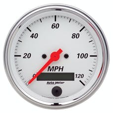 AutoMeter Products 1380 Gauge; Speedometer; 3 3/8in.; 120mph; Elec. Prog. w/LCD Odo; Arctic White