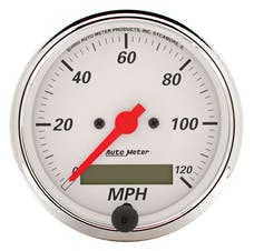 AutoMeter Products 1388 Gauge; Speedometer; 3 1/8in.; 120mph; Elec. Prog. w/LCD Odo; Arctic White