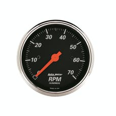 AutoMeter Products 1478 3-1/8in Tachometer 7000 RPM 4-6-8 Cylinder  Electric  Designer Black Chrome
