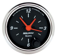 AutoMeter Products 1484 2-1/16in Clock  12 Volt  Electric  Chrome Bezel