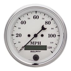 AutoMeter Products 1680 Speedo  Old Tyme White