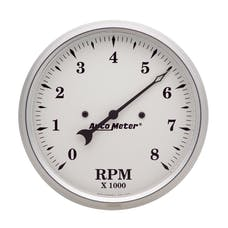 AutoMeter Products 1699 Tach  8 000 Rpm  Old Tyme White