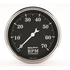 AutoMeter Products 1798 Gauge; Tachometer; 3 1/8in.; 7k RPM; In-Dash; Black Bzl; Old Tyme Black