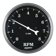 AutoMeter Products 1799 Tachometer Gauge, In-Dash 5in, 8K RPM Old Tyme Black