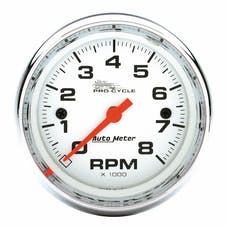 """AutoMeter Products 19305 Tachometer Gauge, White-Pro Cycle 2 5/8"""", 8K RPM, 2&4 Cylinder"""