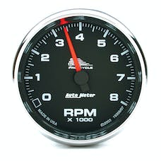 """AutoMeter Products 19306 Tachometer Gauge, Black-Pro Cycle 2 5/8"""", 8000 RPM, 2&4 Cylinder"""