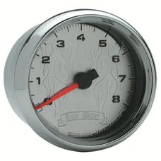 """AutoMeter Products 19309 Tachometer Gauge, Chrome Flame-Pro Cycle  2 5/8"""", 8K RPM, 2&4 Cylinder"""
