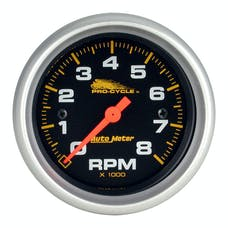 """AutoMeter Products 19324 Tachometer Gauge, Black-Pro Cycle 2 5/8"""", 8K RPM, 2&4 Cylinder"""