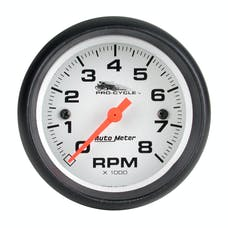 """AutoMeter Products 19325 Tachometer Gauge, White-Pro Cycle 2 5/8"""", 8000 RPM"""
