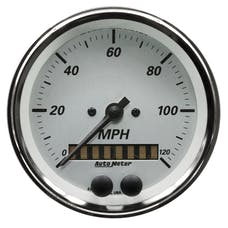 "AutoMeter Products 1949 Gauge, Speedometer, 3 3/8"", 120mph, Gps, American Platinum"