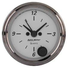 AutoMeter Products 1986 American Platinum Clock 2 1/16 in. Quartz Movement w/Second Hand
