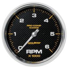 "AutoMeter Products 200750-40 Tachometer Gauge Marine Carbon Fiber 5"", 6K RPM"