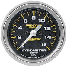 "AutoMeter Products 200842-40 Gauge, Pyrometer, 2 1/16"", 0-1,600Γö¼Γòæf, Marine Carbon Fiber"
