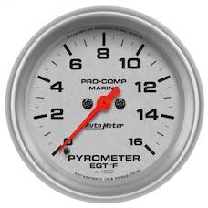 "AutoMeter Products 200844-33 Gauge, Pyrometer, 2 5/8"", 0-1,600Γö¼Γòæf, Marine Silver"