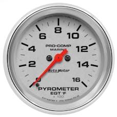 "AutoMeter Products 200844-35 Gauge, Pyrometer, 2 5/8"", 0-1,600Γö¼Γòæf, Marine Chrome"