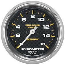 "AutoMeter Products 200844-40 Gauge, Pyrometer, 2 5/8"", 0-1,600Γö¼Γòæf, Marine Carbon Fiber"