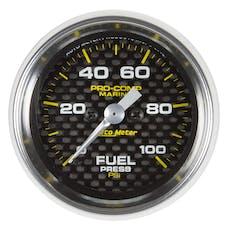 "AutoMeter Products 200850-40 Fuel Pressure Gauge, Marine Carbon Fiber 2 1/16"", 100PSI, Digital Stepper M"