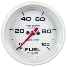 "AutoMeter Products 200851 Fuel Pressure Gauge, Marine White  2 5/8"", 100PSI Digital Stepper Motor"