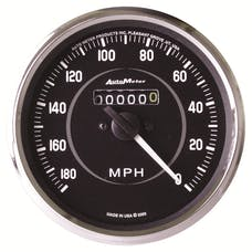 AutoMeter Products 201005 GAUGE; SPEEDOMETER; 4in.; 180MPH; MECHANICAL (REVERSE ROTATION); COBRA