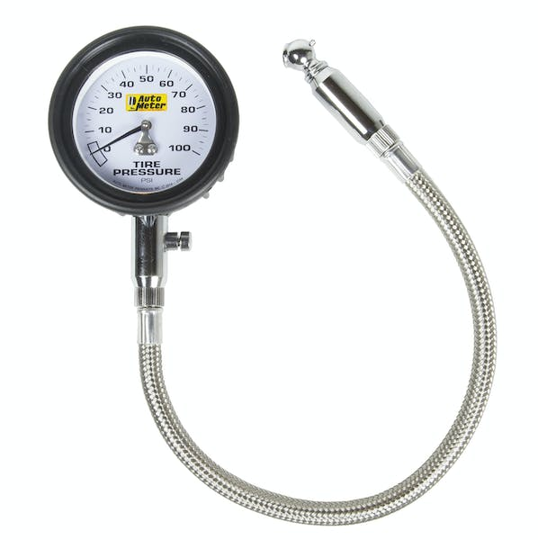AutoMeter Products 2164 Professional-Grade Tire Pressure Gauge (0-100 PSI)