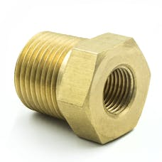 """AutoMeter Products 2284 Adapter Fitting, 3/8"""" NPT Male, 1/8"""" NPT Female, Brass"""