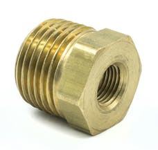 """AutoMeter Products 2285 Adapter Fitting, 1/2"""" NPT Male, 1/8"""" NPT Female, Brass"""