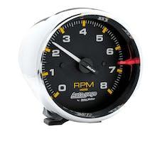 AutoMeter Products 2301 GAUGE; TACH; 3 3/4in.; 8K RPM; PEDESTAL; BLK DIAL CHROME CASE; AUTOGAGE