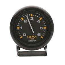 AutoMeter Products 2306 Gauge; Tachometer; 2 3/4in.; 6k RPM; Pedestal; Blk Dial Blk Case; AutoGage