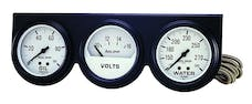 AutoMeter Products 2328 3 Gauge Console Oil/Water/Volt