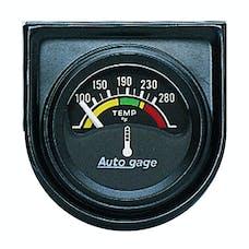 AutoMeter Products 2355 Gauge Console; Water Temp; 1.5in.; 280deg.F; Elec; Blk Dial; Blk Bezel; AutoGage