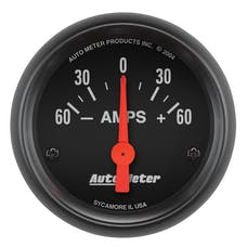 AutoMeter Products 2644 Gauge; Ammeter; 2 1/16in.; 60A; Electric; Z-Series