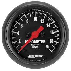 "AutoMeter Products 2655 Gauge, Pyrometer(EGT), 2 1/16"", 2000Γö¼Γòæf, Digital Stepper Motor"