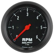 "AutoMeter Products 2695 Gauge, Tachometer, 3 3/8"", 6k Rpm, In-Dash, Z-Series"